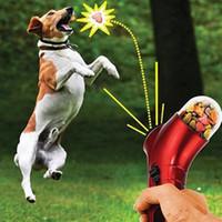 Wholesale New Pet Feeding Gun Pet Treat LauncherPets Food Spray Gun Dogs Cats Traning Outdoor Interactive Toy DHL Free