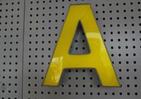 Wholesale Customized D channel letters logo type acrylic face stainless steel LED front lit sign