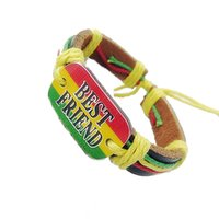 best holiday food gifts - Bob Marley bracelet Best Friend bracelets BFF Stripe wrist Band Friendship Bracelet Wrist Bracelet pc