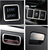 al por mayor botones forrados kit-anillo de cubierta decorativa ajuste del botón del anillo interior de la caja de almacenamiento Mango de acero inoxidable 7pcs kit para Mitsubishi Outlander 2013 2014