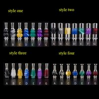 best drip stocks - Four different styles SS and acrylic drip tip best price in stock fit atomizer of