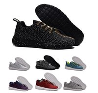 shoe factory - 2016 new Roshe Run One BR X Boost factory MEN S and women Running Sport Shoes Turtle Grey Pirate Black size