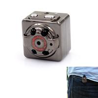 Wholesale HD P P Sport Spy Mini Camera SQ8 Mini DV Voice Video Recorder Infrared Night Vision Digital Small Cam Hidden Camcorder