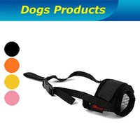 Wholesale 2015 New Fashion High Quality Muzzle for dog Adjustable Velcro Training Dog Muzzle Bark Stop