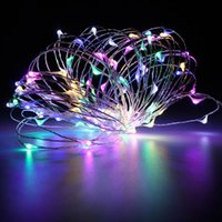 Wholesale 10M LED LED Holiday Light Copper Wire string Fairy light Party Wedding Christmas Flashing LED strip Light Starry Light Power Adapter