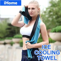 Wholesale Microfiber Cool Towel Summer Cooling Towels Dual layer sports outdoor ice cold Feeling scarves Pad Quick Dry Washcloth for Fitness Yoga
