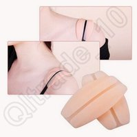 Wholesale 100pair CCA3826 High Quality Beige White Soft Silicone Bra Strap Cushions Holder Non slip Shoulder Pads Relief Pain Strap Cushions Opp Bag