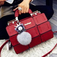 Wholesale New Spring summer Women Bag Suture Boston Bag Inclined Shoulder Bag Women Leather Handbags