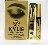 Wholesale 2016 New High quality Kylie Mascara Charming eyes Magic Thick Slim Waterproof Mascara Black color DHL