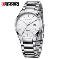 Handheld alloy dating - Relogio masculino CURREN Luxury Brand Full Stainless Steel Analog Display Date Men s Quartz Watch Business Watch Men Watch