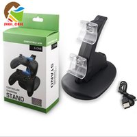 Wholesale XBOX ONE PS4 LED Dual Charger Dock Mount station USB Charging For PS4 Xbox One gamepad Controller With Retail Box