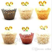 baking goods supplies - Laser Cut Fireworks Cupcake Wrappers Liners Wedding Favor Party decor Supplies Brand New Good Quality
