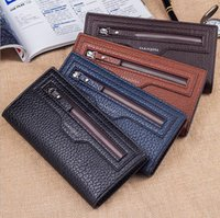 Wholesale 2016 leather designer mens wallets purse porte money fashion gifts for men ultra thin wallet case clutch credit cards brands bags man size