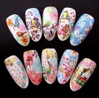 water nail decals - for owl Newest water transfer nail art decals sticker nail patch nail decoration supplie bling bling stickers decoration