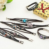 Wholesale NOOSA PU Leather Bracelets Ginger Snaps Bracelets Interchangeable Snap Leather Charm Bracelet For Women