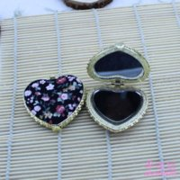 Wholesale NEW Handmade silk Compact mirrors cosmetic pocket compact makeup mirror gift