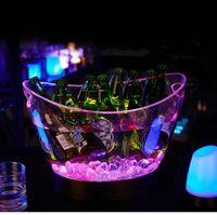 Wholesale whiskey led ice bucket wine rack glass rack whiskey bar bottle holder rocks stainless cube whisky ice stones cube ice bucket balde vinho D15