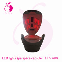 Wholesale Ozone therapy body slimming LED lights beds with infrared steam sauna dry spa space capsule CR S708