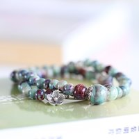 beaded presents - National Style DIY Jewelry Natural Double Beads Bracelet Thanksgiving Day present Shoppin Go crazy