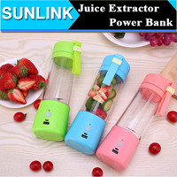 battery blender - 380ML Mini Juice Extractor Portable Electric Fruit Juicer Vegetable Citrus Blender Ice Crusher Battery Supply Power Bank Outdoor Easy Take