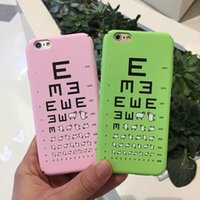 acuity testing - Funny Lamb Visual Acuity Test Chart Matting Hard Plastic Sheep Frosted Case For Apple iPhone s Plus s Plus Novel Cover