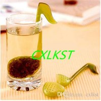 Wholesale New Music Note Fashion Convenience Tea Strainer Spoon Teaspoon Infuser Filter