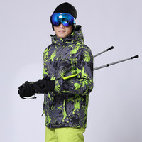 Wholesale new high quality fashion Tuba men outdoor ski suit waterproof map snowboard mountaineering sports jacket warm