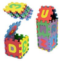 Wholesale 36 Baby Kids Alphanumeric Educational Puzzle Blocks Infant Child Toy Gifts