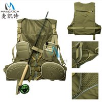 Wholesale Many pockets tactical quick drying breathable jacket fly fishing vest photography outdoor men s hunting vest