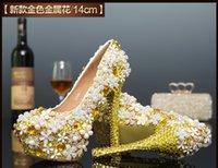 Free shopping nouveau strass fait à la main bling mariage fleur nuptiale sexy chaussures à talons hauts chaussures chaussures de luxe et de beaux talons hauts