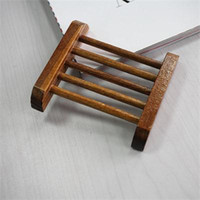 Wholesale New Multi Function Retail Natural Carbide Wood Soap Dish Shower Plate Bathroom Soap Holder