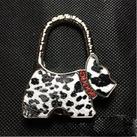 Wholesale 100 DHL FEDEX Folding Handbag Purse Bag Hanger Table Hook Hang Holder DOG Shape
