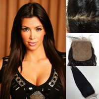 amazing choice - Your Best Choice Amazing Unprocessed Human Hair quot quot Natural Color Black Silk Base Closure Silky Straight Hair Extensions