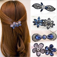 Wholesale 12 Styles Fashion Hairpin Beautiful Floral Wedding Sparkling Crystal Bridal Hair Combs Hairpin Jewelry Hair Accessories