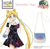 Wholesale Pretty Soldier Sailor Moon bag Japanese cartoon six colors choices Small Square Package Fashion Bags Shoulder Bags PU Diamonds Bow