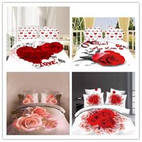 Wholesale D Reactive printing Bedding Sets Printed Queen Full Bed Linens Sheet Sets Duvet Cover Sets Bed Set Animal Plant