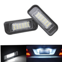 auto number plate lamp - 2pcs LED Error Free Number License Plate Light Car Bulbs Auto Lamp Car Accessories Fit For Mercedes Ben z W220 S320 S420 S430