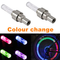 bicycle security - Colorful transform LED Bike Wheel light RGB AG10 Bicycle Tyre Valve Cap waterproof Super bright Warning llight security lamp tire ornamental