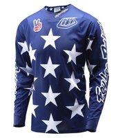 Wholesale Hot Brand New Men s Long Sleeve Motocycle Jersey Motocross Jersey Male Moto Jersey DH Downhill MX MTB Clothes Plus Size S XXXL