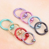 Wholesale 16G Captive Bead Ring BCR Horseshoe Circular Barbell CBR Nose Ear Piercing Body jewelry Tragus ring
