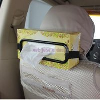 Wholesale Easy Car Sun Visor Tissue Box Holder Paper Napkin Seat Back Bracket Direction