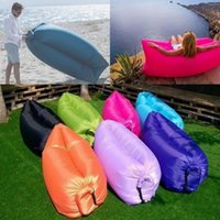 Wholesale Inflatable Hangout Air Sleeping Hiking Camping Bed Beach Sofa Lounge Lazy Bag Many Colors