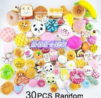 big breads - 30pcs Mixed Orders Mixed Cartoon Bread Bun Squishy Charm With Nice Package