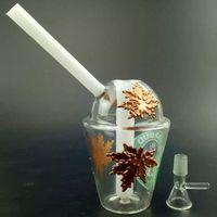 beaker mugs - 7 inch mm New Arrival Gold Oil Rigs Glass Bongs Hookahs Coffee Mug Smoking Water Pipes Beaker Percolator Heady Bong In Stock