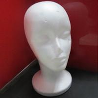 Wholesale 2015 free shopping Pc Female Styrofoam Foam Mannequin Manikin Head Model Wig hair Glasses Hat Display L04180