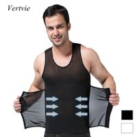 abdomen workouts - Vertvie Men Body Abdomen Waist Trimmer Slimming Vest Top Shape Corset Belt Underwear Shapewear Running Gym Fitness Workout