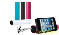 Wholesale 3 in Mini Tube powerjam mAh Charger Portable Speaker smart phone stand External Power Bank powerbank backup Battery mobile Holder