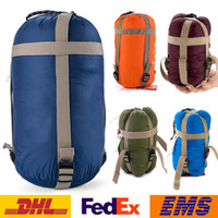 Wholesale New Sleeping Bag Outdoor Camping Sleeping Bag Unisex Lightweight Compression Stuff Sack Bag Outdoor Camping Hiking Sleeping Bag WX H01