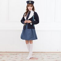 actress halloween costumes - AMNESIA amnesia Actress cos ladies long sleeve British style navy sailor costume cosplay students