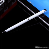 Wholesale Two Way Use capacitive Touch Pen Ball Point in stylus pen for ipad mini samsung HTC Huawei Nokia Iphone